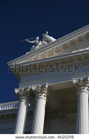 california state capitol building sculpture detail - stock photo