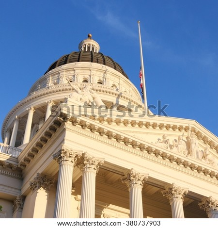 California State Capitol in Sacramento, United States. - stock photo