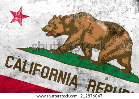 California State Flag with a vintage and old look - stock photo