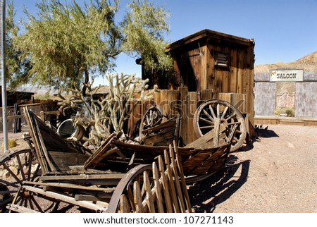 Californian Ghost Town - stock photo