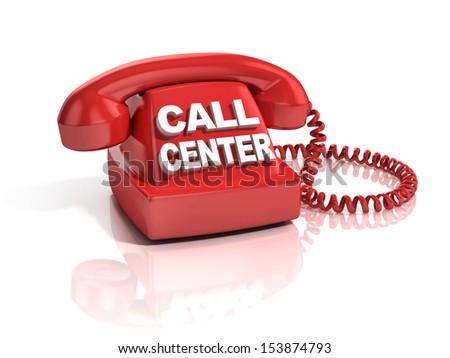 call center 3d icon - stock photo