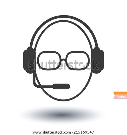call center operator icons.  - stock photo