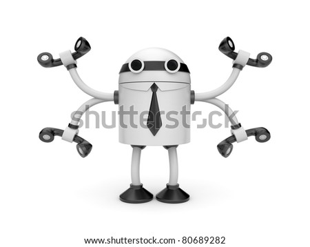 Call center. Skilled worker - stock photo