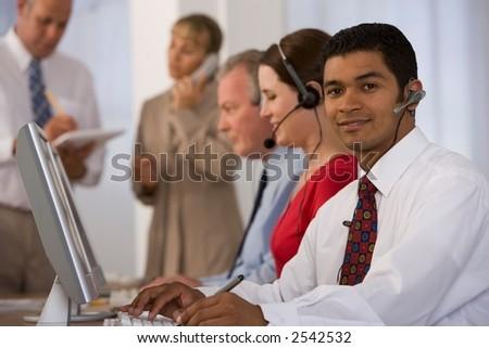 call/service centre - stock photo