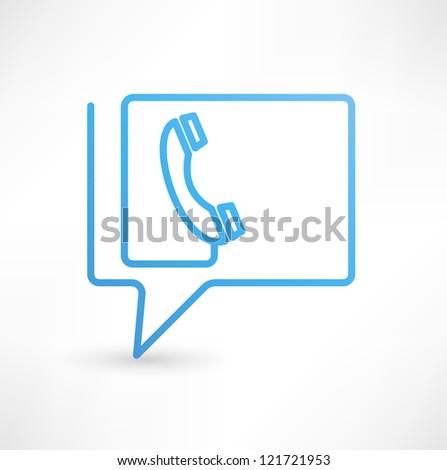 Call Us Bubbles  icon - stock photo