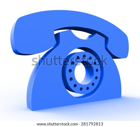 Call Us Service Showing Assistance Helpdesk And Conversation - stock photo