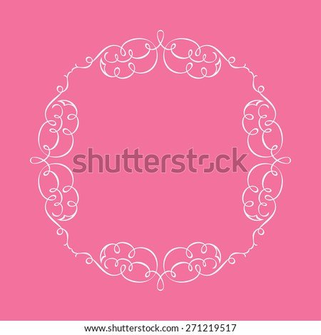 Calligraphic frame and page decoration. illustration background - stock photo