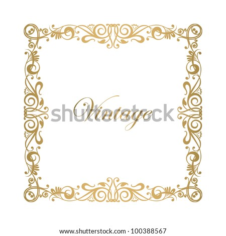Calligraphy ornamental decorative frame vector. Raster version of the loaded vector - stock photo
