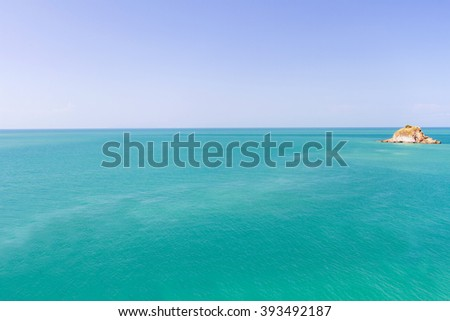 Calm and ocean blue sky, Andaman Sea, koh lanta, krabi, Thailand - stock photo