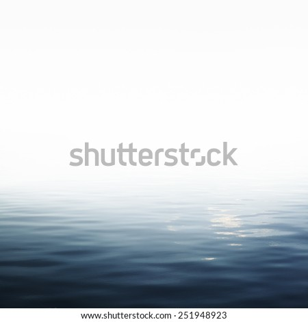 Calm sea and clear sky Blue sea with waves - stock photo