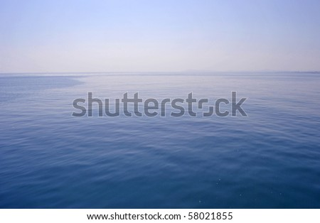 calm seas and no wind - stock photo