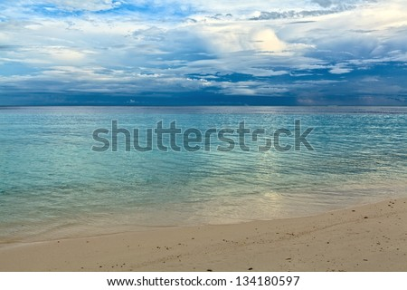 Calm seascape for morning relax, Maldives, The Indian Ocean - stock photo