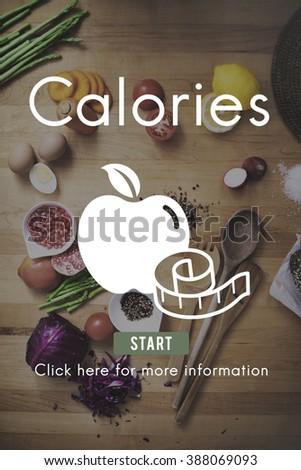 Calories Diet Energy Food Beverage Nutrition Concept - stock photo