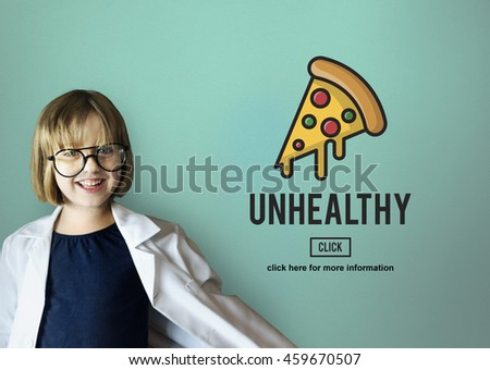 Calories Junk Food Unhealthy Obesity Concept - stock photo
