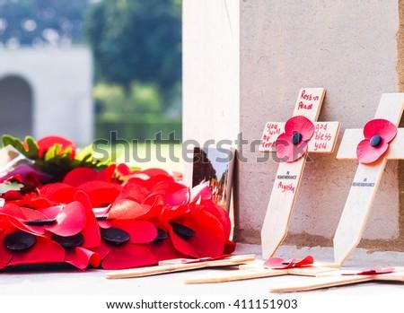 Calvary cemetery in memories. - stock photo