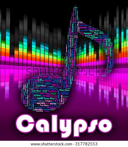 Calypso Music Showing Sound Track And Singing - stock photo