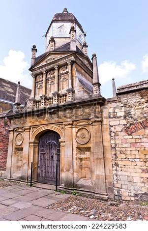 Cambridge England Old Sundial - stock photo
