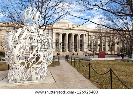 CAMBRIDGE, USA - APRIL 1: Building of the MIT in Cambridge, MA on April 1, 2012. Its Alumni program created so many companies that their revenues together represent the eleventh economy in the word. - stock photo
