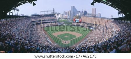 Camden Yard Stadium, Baltimore, Orioles v. Rangers, Maryland - stock photo