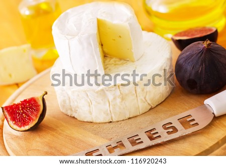 camembert and brie - stock photo
