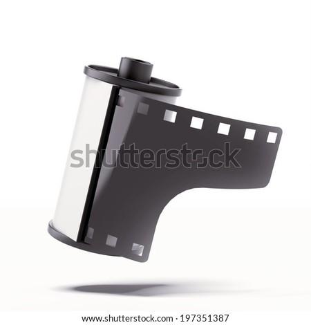 Camera film roll - stock photo