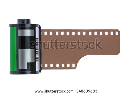 Camera Film Roll isolated on white background - stock photo