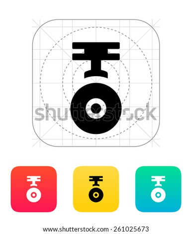 Camera for copter icon. - stock photo