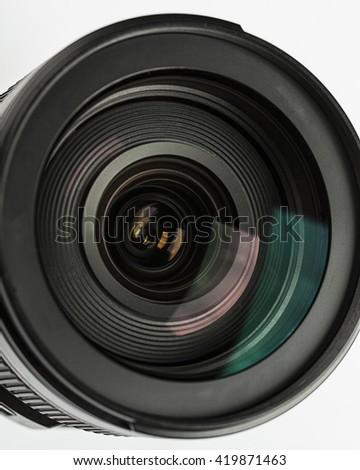 Camera lens close-up on white background Camera lens Camera lens Camera lens Camera lens Camera lens Camera lens Camera lens Camera lens Camera lens Camera lens Camera lens Camera lens Camera lens  - stock photo