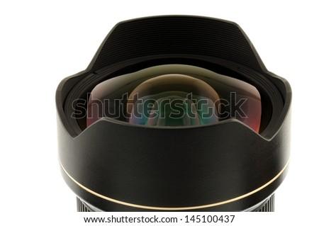 Camera lens reflection - stock photo