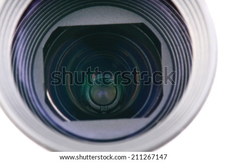 camera lense  - stock photo