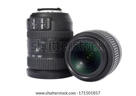 camera lenses - stock photo