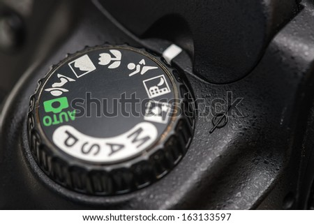 Camera mode dial Sports mode - stock photo