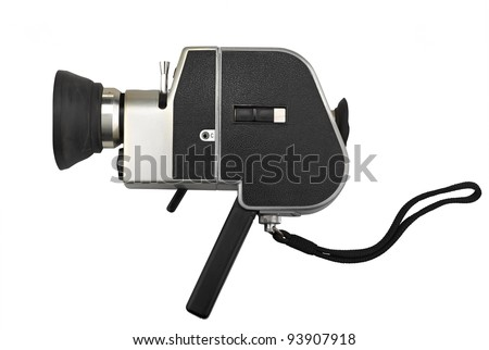 camera super 8 isolated on white - stock photo