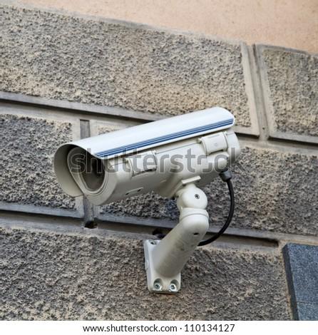 camera surveillance - stock photo