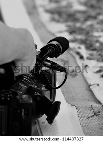 cameramen - stock photo