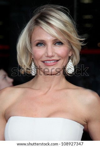 Cameron Diaz arriving for the UK Premiere of 'What To Expect When You're Expecting' at the Imax Cinema, London. 22/05/2012 Picture by: Alexandra Glen / Featureflash - stock photo