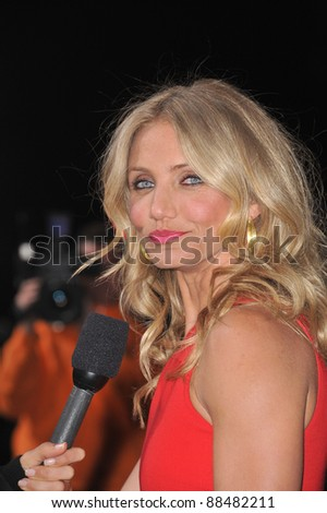 "Cameron Diaz at the Los Angeles premiere of her new movie ""The Green Hornet"" at Grauman's Chinese Theatre, Hollywood. January 10, 2011  Los Angeles, CA Picture: Paul Smith / Featureflash - stock photo"
