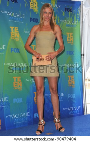 Cameron Diaz at the 2011 Teen Choice Awards at the Gibson Amphitheatre, Universal Studios, Hollywood. August 7, 2011  Los Angeles, CA Picture: Paul Smith / Featureflash - stock photo
