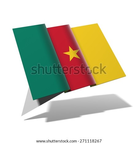 Cameroon flag 3D banner - stock photo