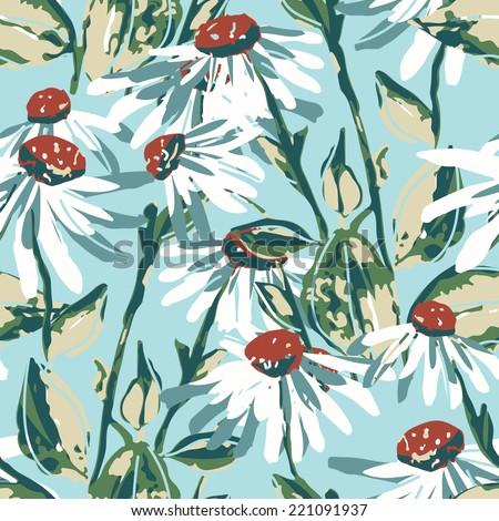 Camilla seamless pattern - stock photo