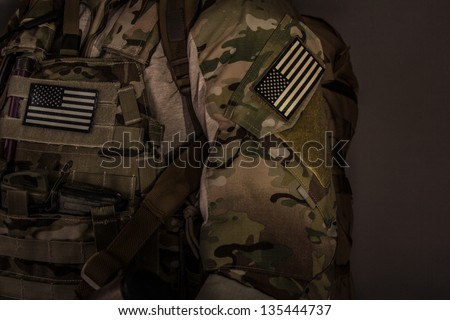 Camouflage Clothing - stock photo
