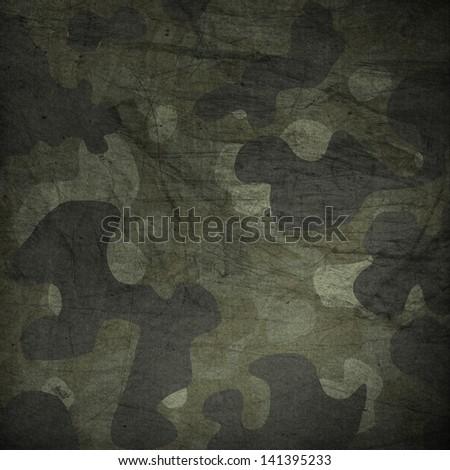 Camouflage grunge background - stock photo