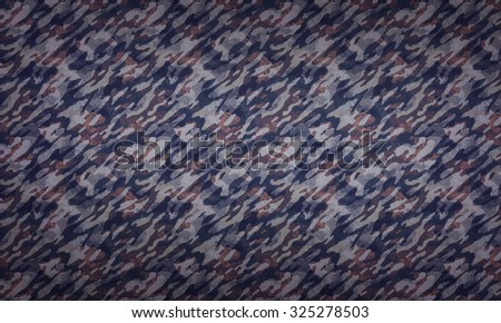 Camouflage Pattern Background - a background with camouflage texture in dark colors.  - stock photo