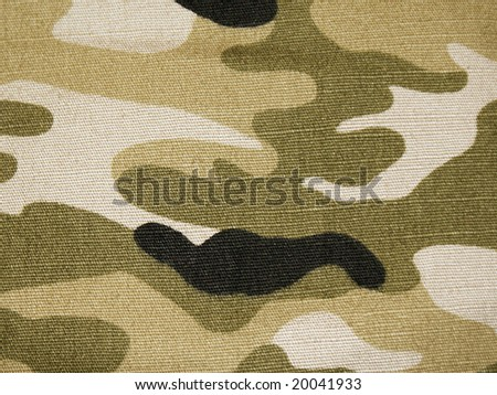 camouflage texture pattern fabric detail photo - stock photo