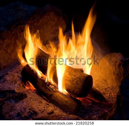 campfire - stock photo