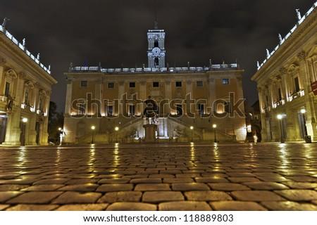 Campidoglio, Capitoline Hill in Rome - Italy - stock photo