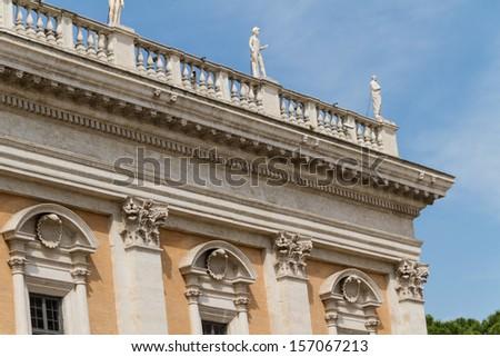 Campidoglio square (Piazza del Campidoglio) in Rome, Italy - stock photo