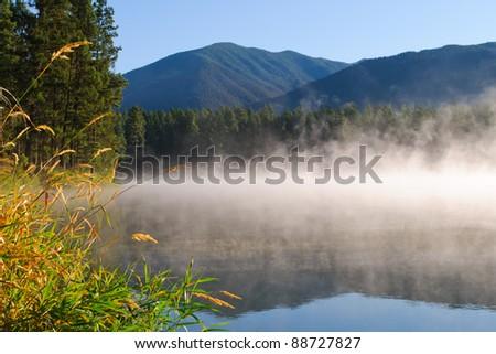 Camping at Loon Lake British Columbia, Canada - stock photo