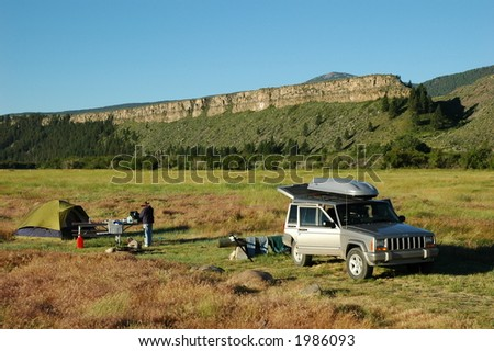 Camping at the Palisades - stock photo