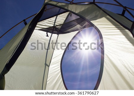 Camping elements. - stock photo